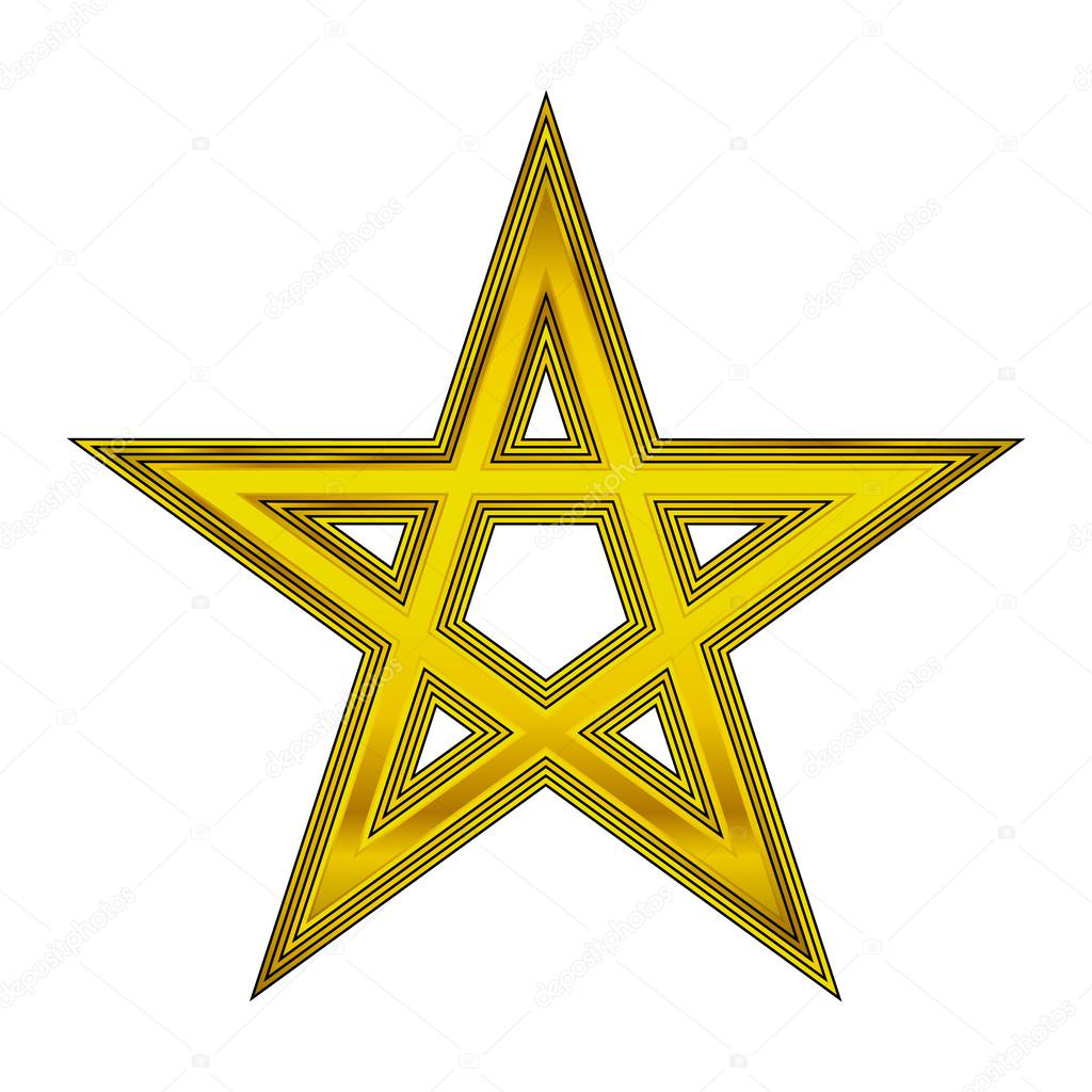 how to draw a golden pentagram
