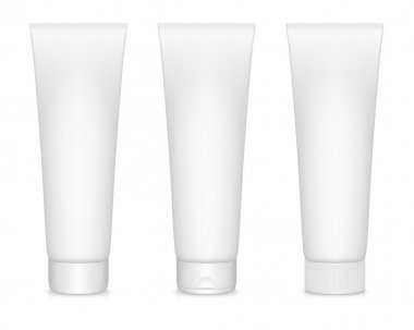 Vector illustration of blanc cream tubes isolated on white. EPS10. stock vector