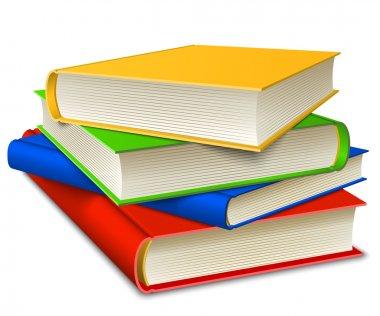Books Stack isolater on white background. Vector illustration EPS10. stock vector
