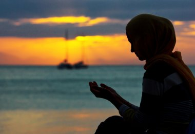 Pray at sunset