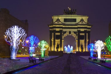 Triumphal arch in Christmas, Moscow
