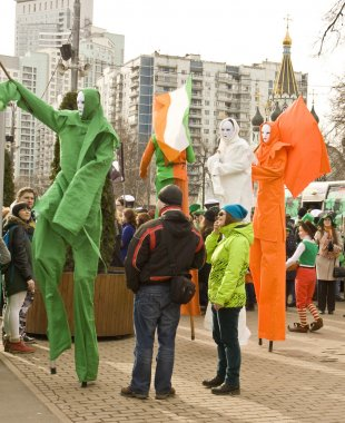 St. Patrick day in Moscow