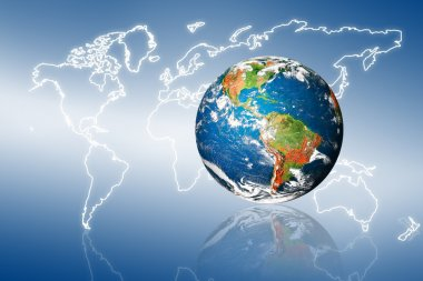 Internet and travel concept of global business