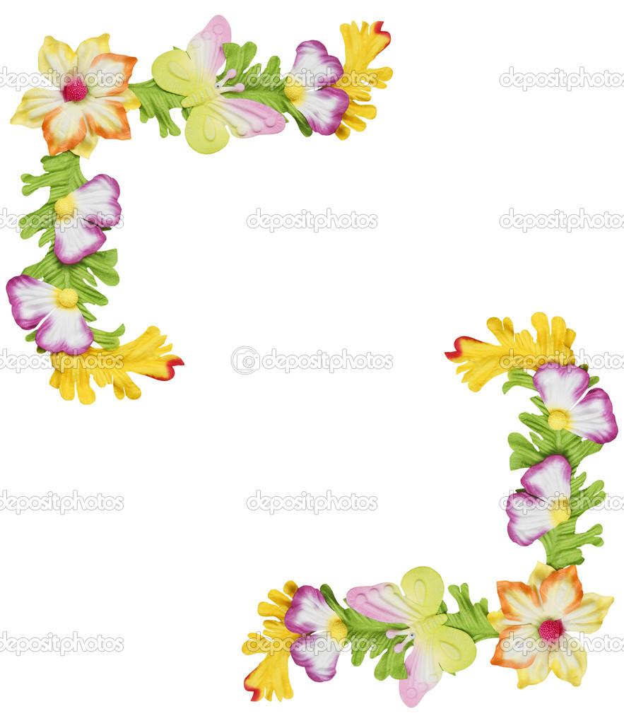Paper flower border stock photo olovedog1 12691029 paper flower border stock photo mightylinksfo