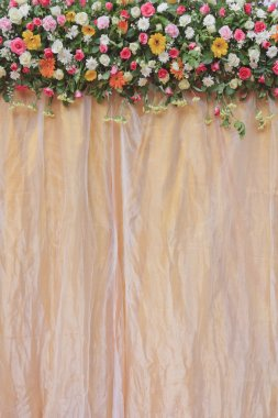 Satin and flower background