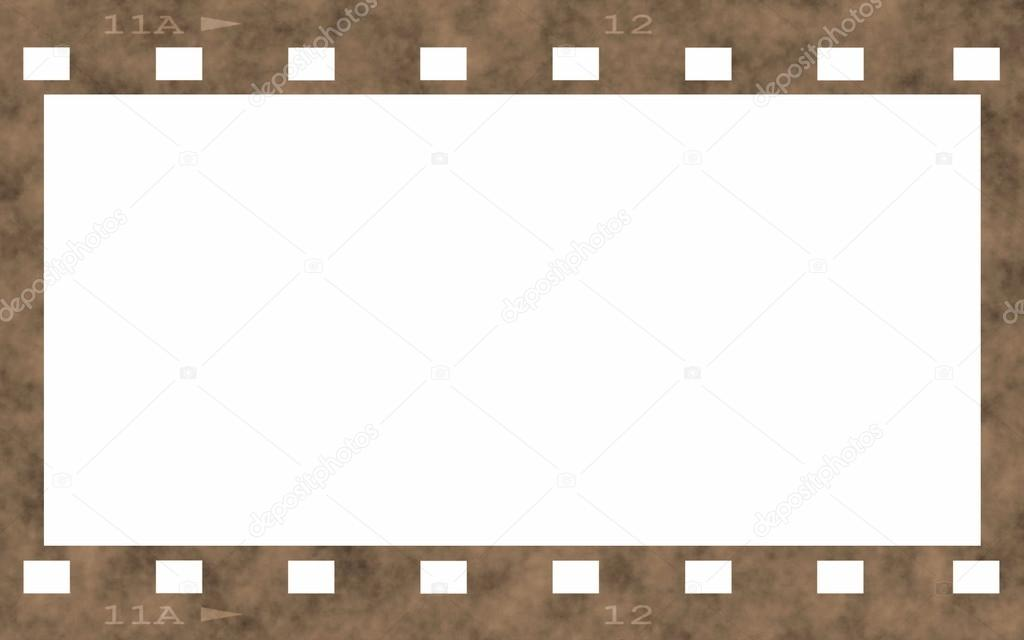 Old film strip frame isolated on white background — Stock Photo ...