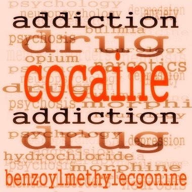 concept cocaine background