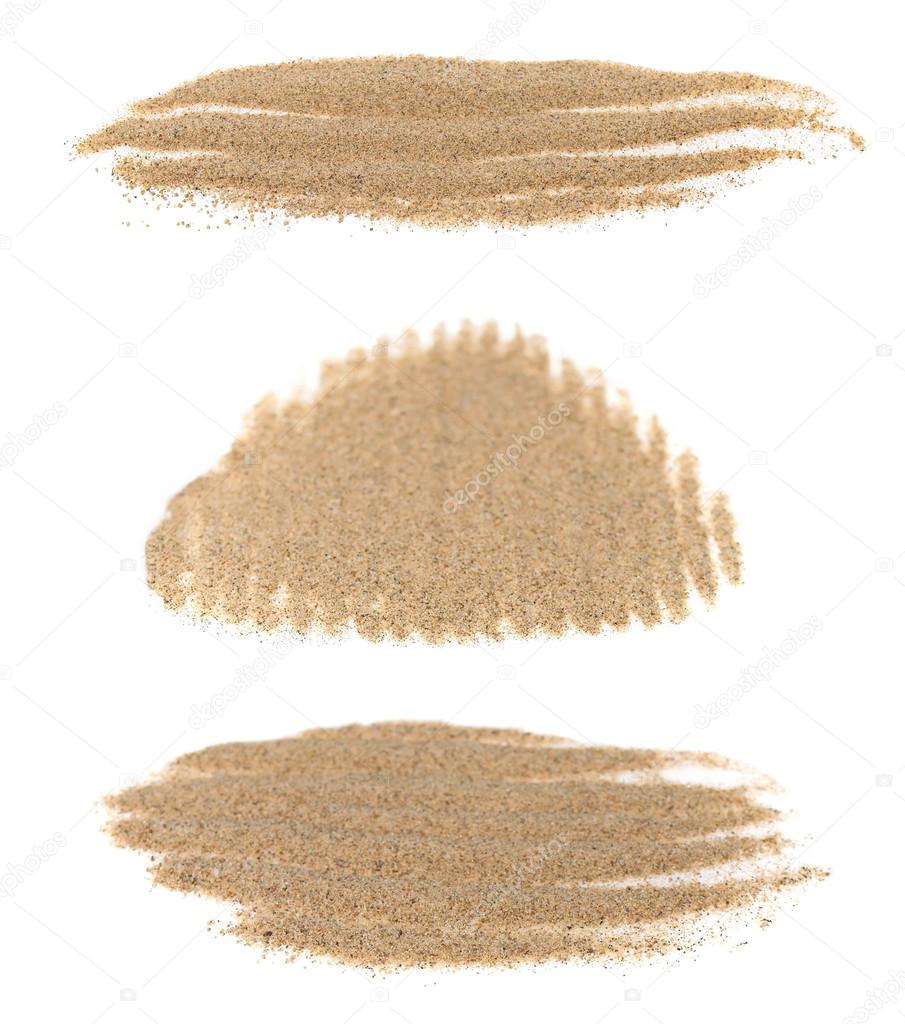 set pile desert sand isolated on white background