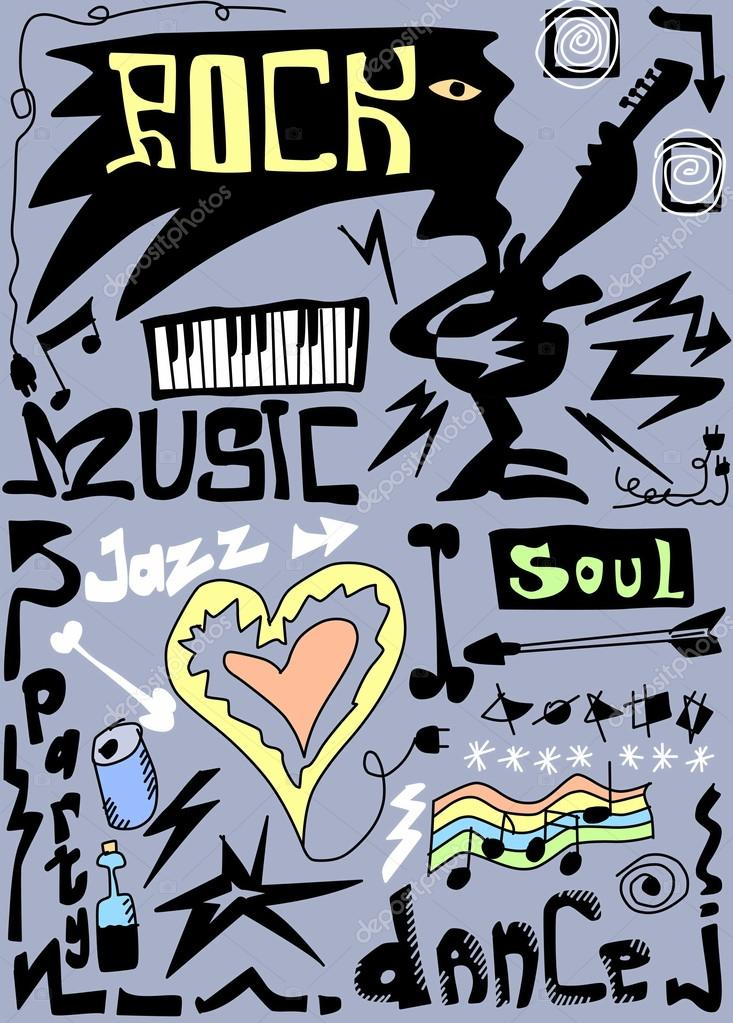 Doodles rock funny music — Stock Photo © dusan964 #28568051