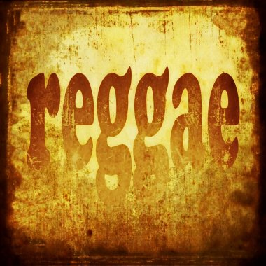 Reggae word music background