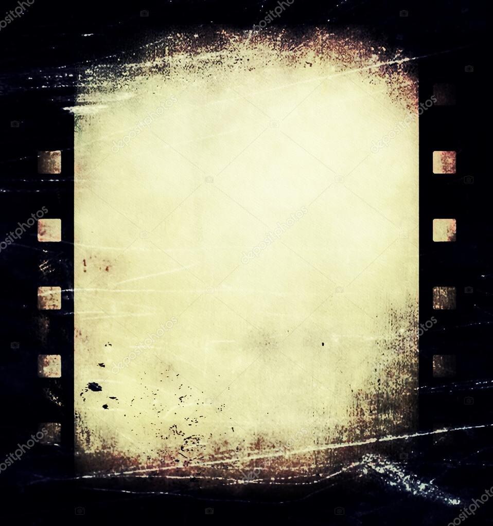 alte Grunge-Film-Streifen Rahmen Hintergrund — Stockfoto © dusan964 ...