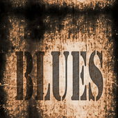 Blues word music abstract grunge background