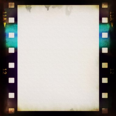 Old blank film strip frame background stock vector