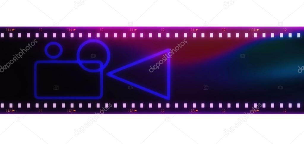viejo grunge tira marco y cine Proyector de la película aislado ...