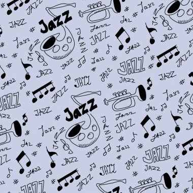 Jazz music pattern and texture