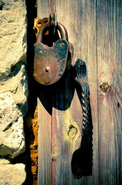old rusted lock
