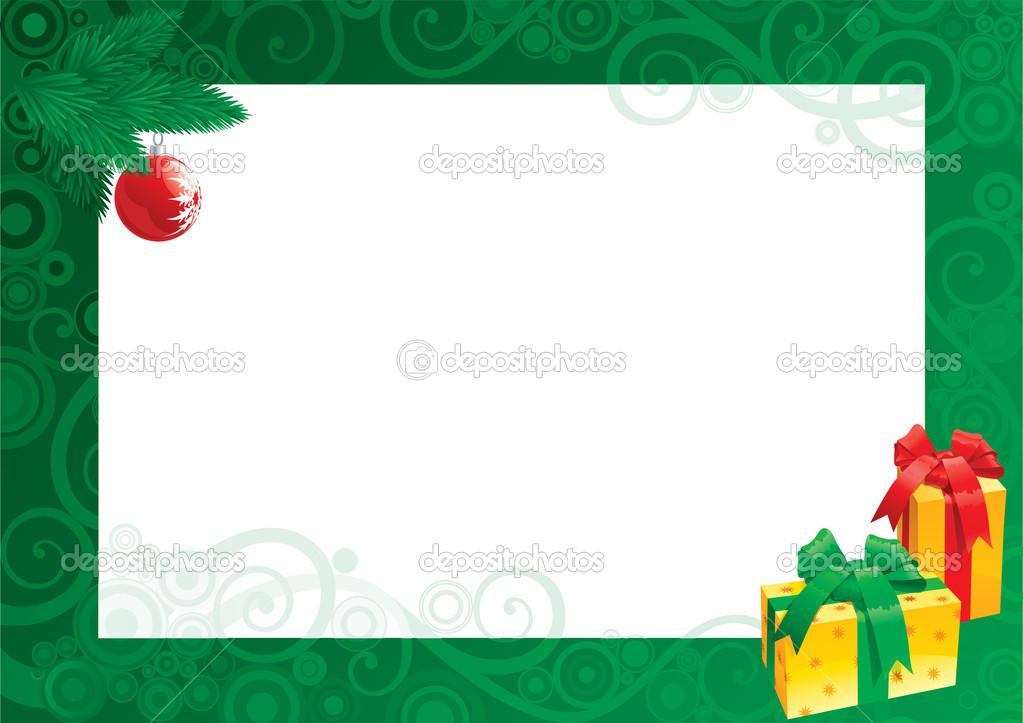 Weihnachtskarte mit leer leer für text — Stockvektor © song_mi #14249691