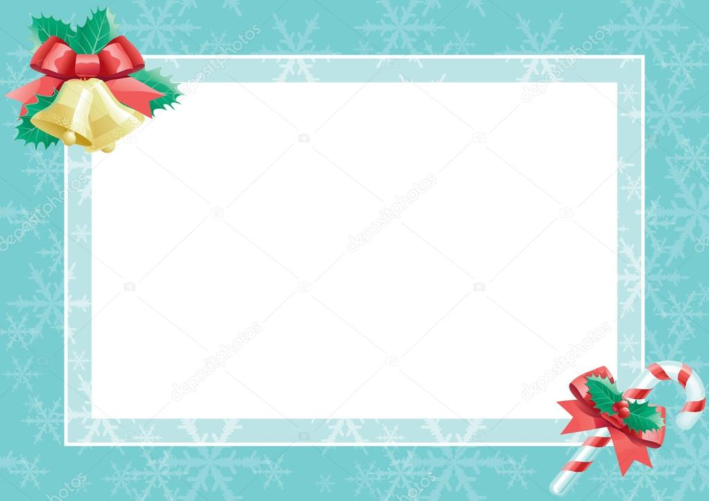 Weihnachtskarte mit leer leer für text — Stockvektor © song_mi #14519881