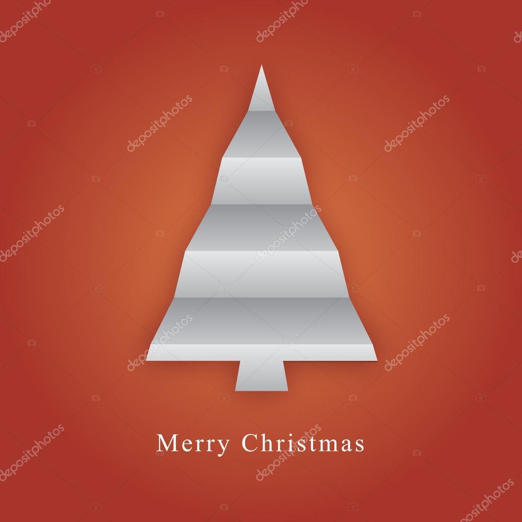 Kerstboom Gemaakt Van Papier Vouwen Stockvector Liewluck 25711473