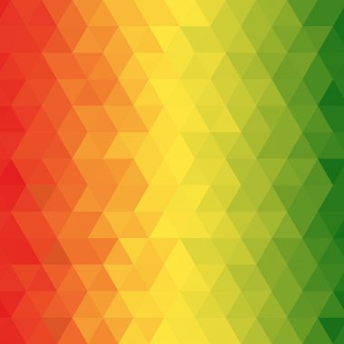 Geometric reggae background
