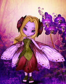 Photo Purple fairy and violet