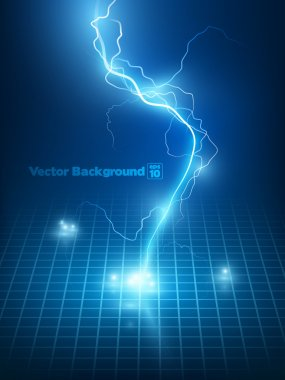 blue lightning flash background.