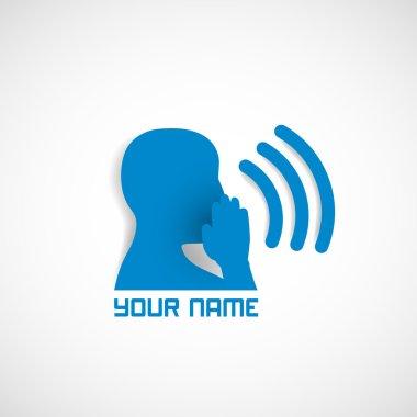 Logo icon man faces vector profiles