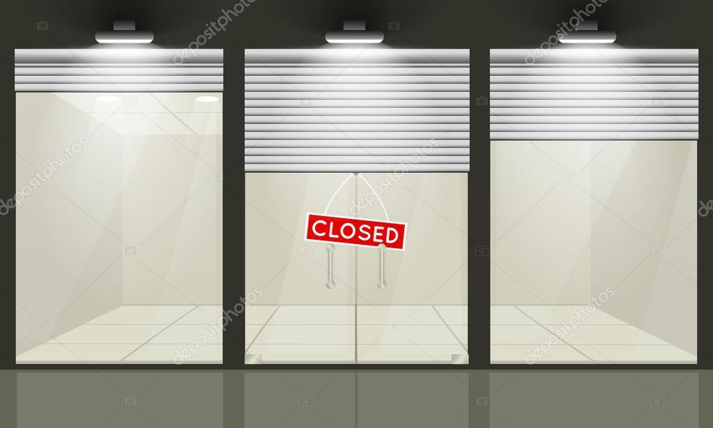 Türen shop  Shop mit Fenstern und Türen, Vorderansicht — Stockvektor ...