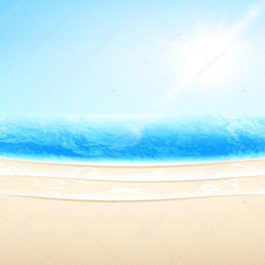 Vector arena mar playa — Vector de stock © soundrain #45668697