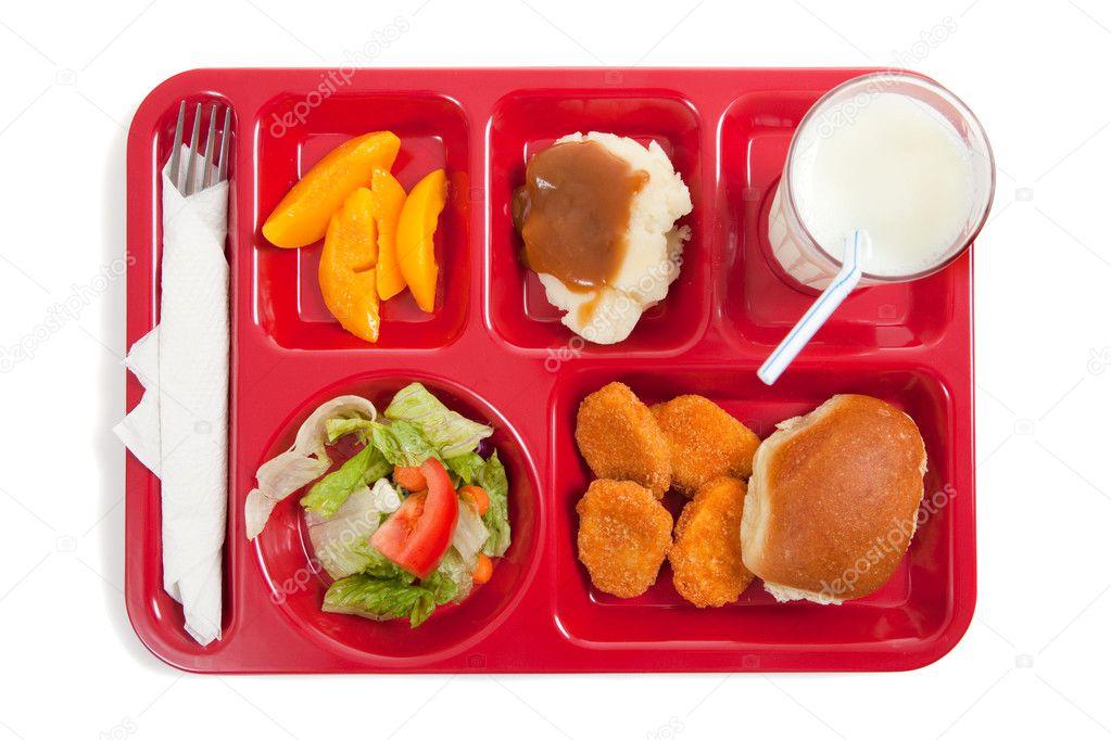 best choice sale retailer newest collection Bandeja de almuerzo escolar con comida en un backgrounf ...