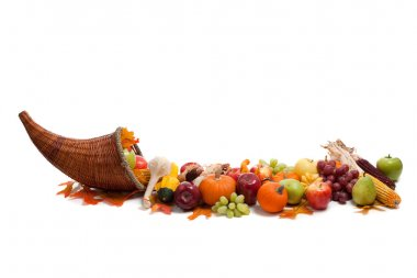 Arrangement of fall fruits and vegetables