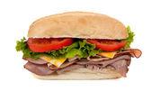 Ponorkového sendviče na bílém pozadí