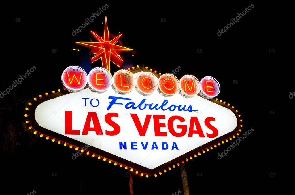 Las Vegas Sign a night