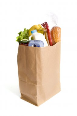 Paper Bag full of Groceries