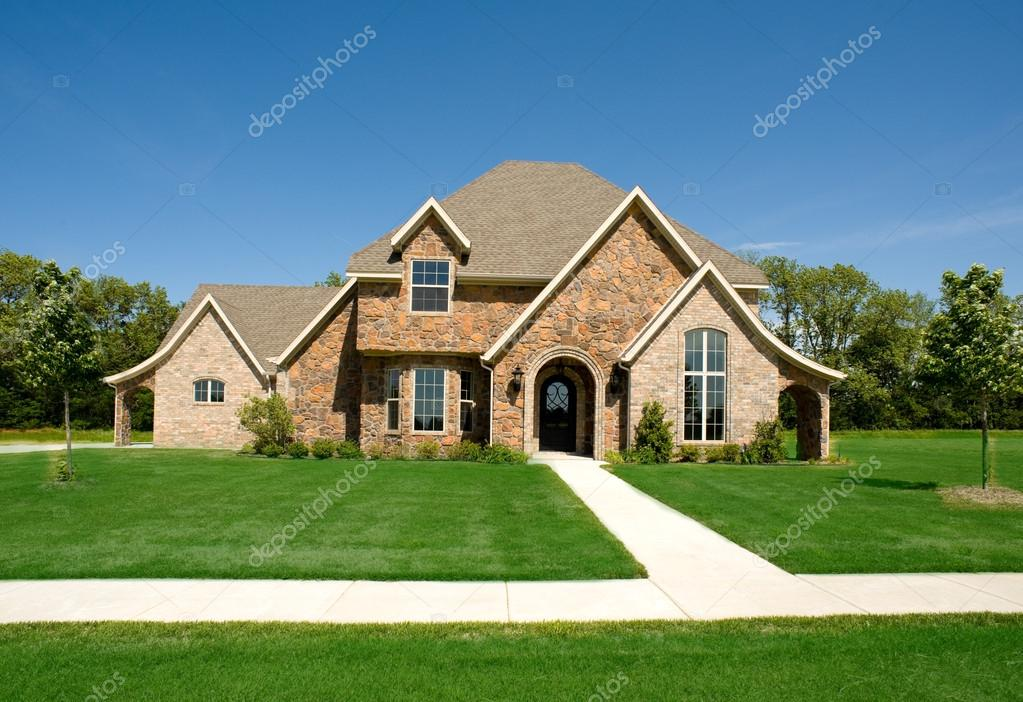 Mooi huis of huis u stockfoto miflippo