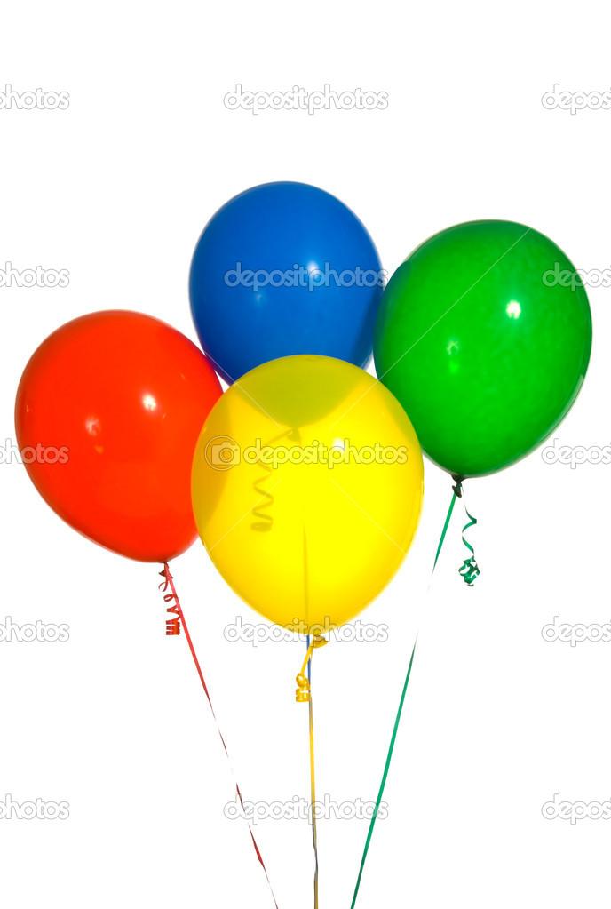 globos de colores primarios Fotos de Stock miflippo 13929729