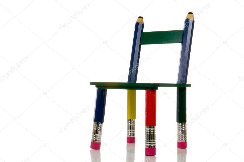 Bleistift Stuhl Auf Weißem Hintergrund Stockfoto Miflippo 13932031
