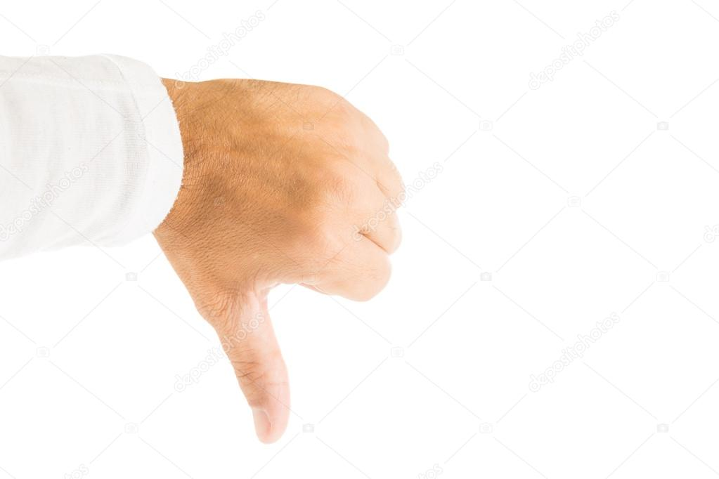 Hand With Finger Pointing Down Stock Photo Edu1971 31214593