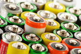 Photo Composition with alkaline batteries. Chemical waste