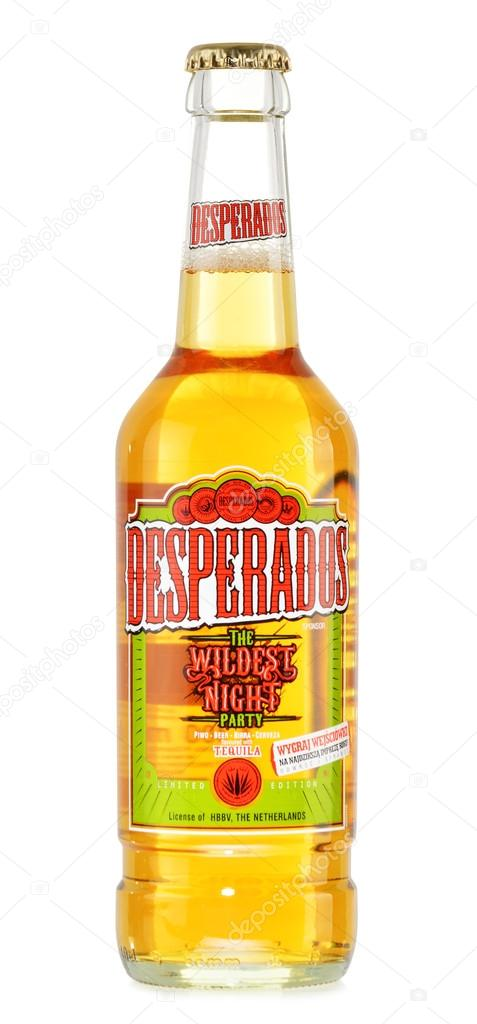 Bottle Of Desperados Beer Isolated On White Stock Editorial Photo C Monticello 41451311