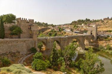 The bridge Puente de Alcantara over River Tajo