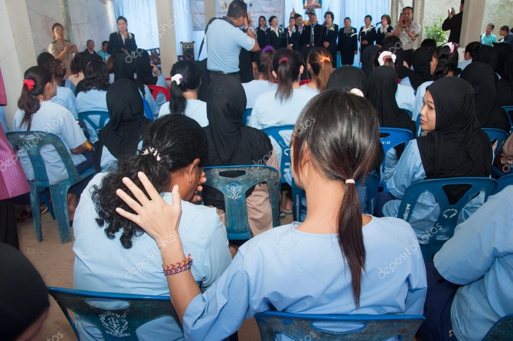 Yala, Tailandia - 10 agosto: prisionera no identificado crys