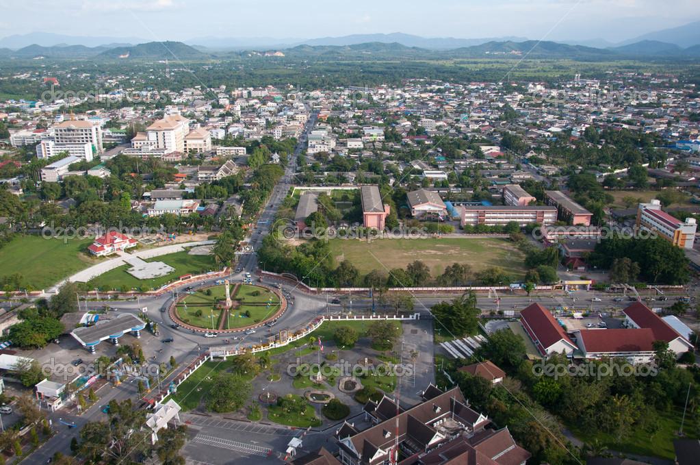 Paysage urbain de la ville d 39 yala thailand photographie for Paysage de ville