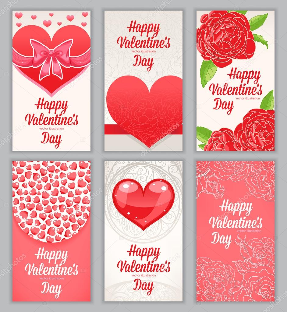 Beautiful Cards For Valentine S Day Stock Vector C Grey Ant 38573615