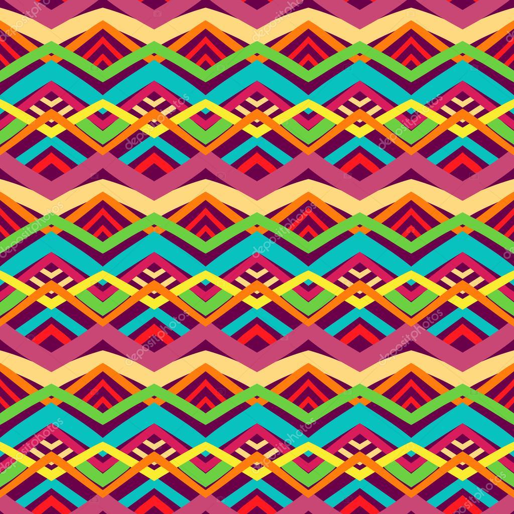 Imágenes Tribales De Colores Patrón De Colores Tribal Vector De