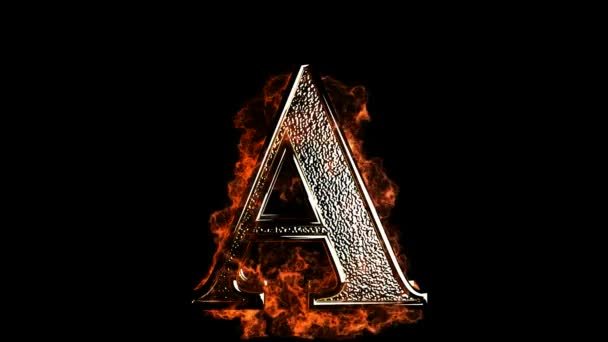 A letter in fire