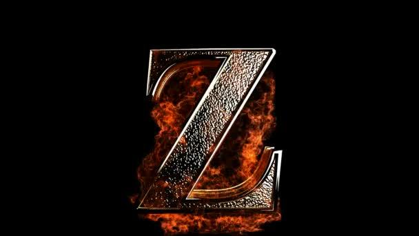 Z letter in fire