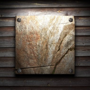 stone plate on wall