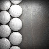Fotografie Volleyball ball and metal wall background
