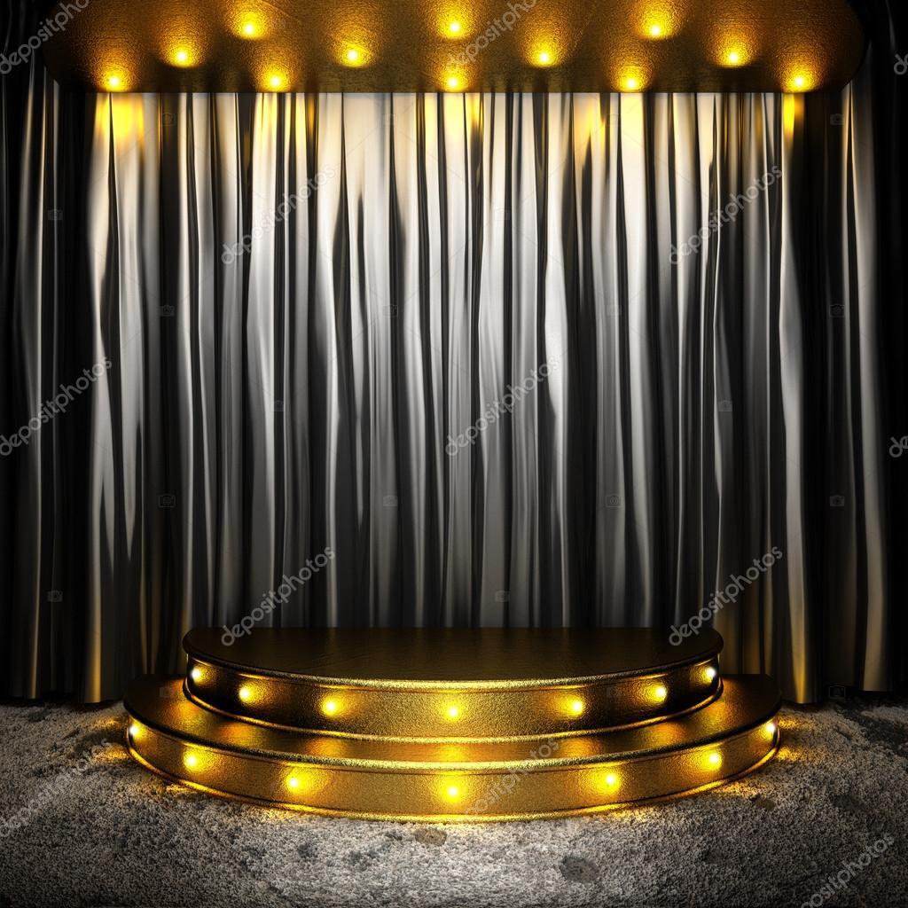 rideau en tissu noir sur sc ne dor photographie videodoctor 26698495. Black Bedroom Furniture Sets. Home Design Ideas